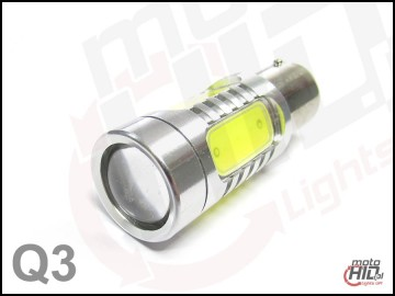 BA15s (1156) Power LED 4x1.5W + Cree Q3 + LENS biała 4300k