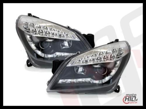 d-lite lampy przednie opel astra h 04-09 led drl black