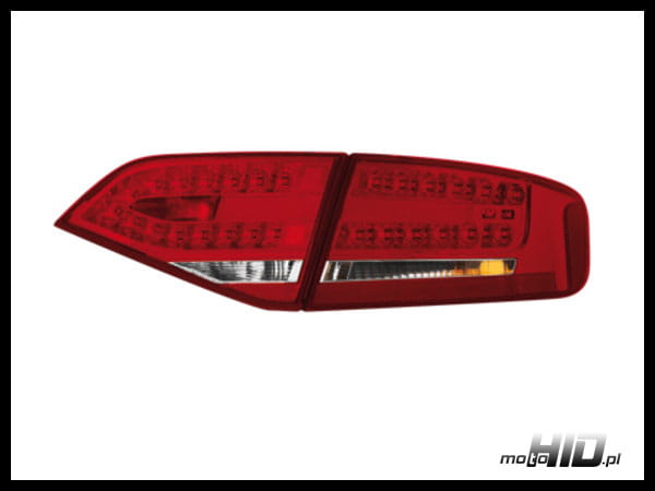 Lampy tylne LED Audi A4 B8 8K 07+ lim. Red Crystal MotoHID